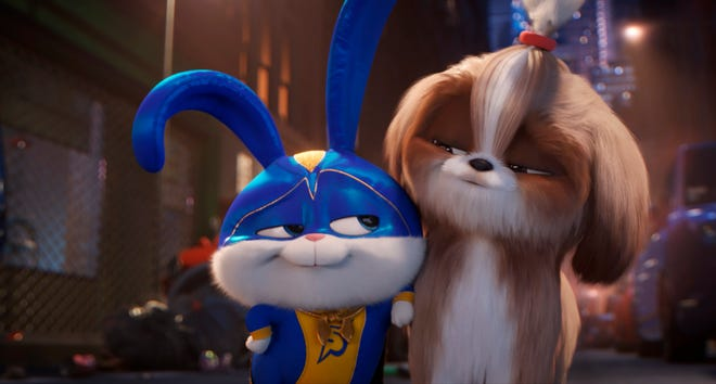 "Snowball (voiced by Kevin Hart), left, and Daisy (Tiffany Haddish) in  ""The Secret Life of Pets 2."""