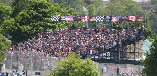 Fans enjoy the Detroit Grand Prix on Sunday, June 2, 2019, on Belle Isle.