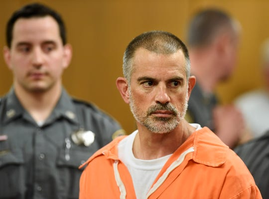 Fotis Dulos is arraigned on charges of tampering with or fabricating physical evidence and first-degree hindering prosecution at Norwalk Superior Court in Norwalk, Conn. Monday, June 3, 2019.