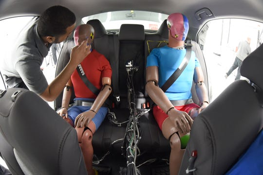 Seat belts have to hold occupants tightly in a crash. In doing so, they sometimes cause chest injuries.