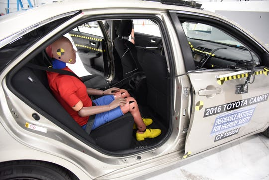 The Insurance Institute for Highway Safety is developing new crash-testing to demonstrate safety concerns raised after analyzing data from 117 crashes in which belted rear-seat occupants age 6 or older were killed or seriously injured in front-end crashes.