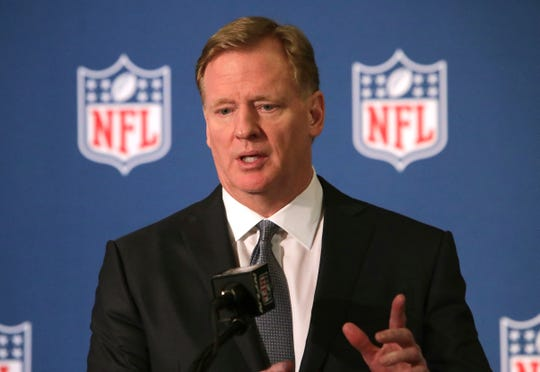 """""""The Draft-A-Thon will deliver much-needed funding to many who are suffering as well as those on the front lines of the COVID-19 pandemic,"""" Commissioner Roger Goodell said in a statement."""