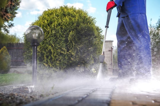 Power or pressure washing can clean your driveway, decks and other exterior features.