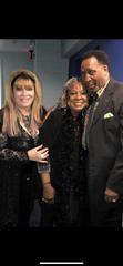 From left,  Jackie Kallen, Martha Reeves, and Thomas Hearns celebrate Arthur Bricker's birthday.