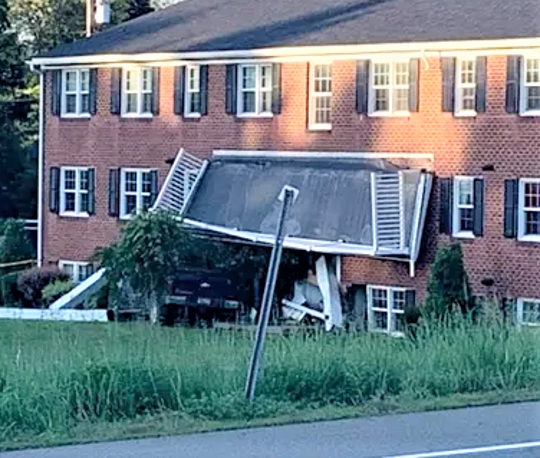 Several residents had to be evacuated temporarily after a car crashed into a Horseheads apartment building early Monday morning.