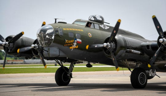 The Commemorative Air Force Texas Raiders B-17 arrives in Evansville Monday. The plane will be in town through Thursday and will be available for tours and flights through the Evansville Wartime Museum, June 3, 2019.