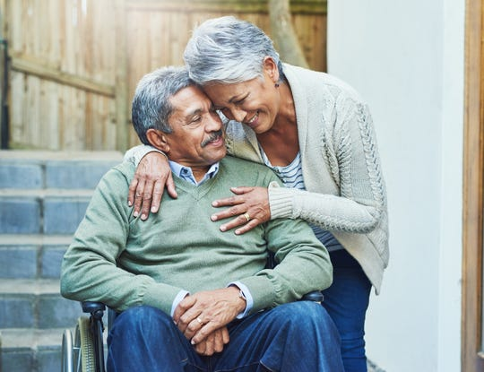 It's unlikely the two partners' health will change in the same ways or at the same rate as they age, often leading to each individual needing a distinct level of care.