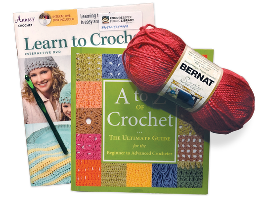 Crochet kits are a new addition to the Poudre River Public Library District's Gadgets & Things Collection.
