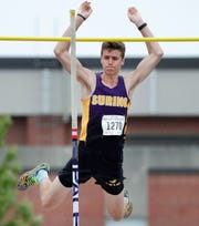 Suring's Mitch Stegman clears the bar in the Division 3 pole vault during the WIAA state track and field meet Saturday, June 1, 2019 at Veterans Memorial Field Sports Complex in La Crosse, Wis.
