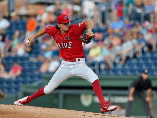 Thaddeus Ward. The Greenville Drive hosted the Delmarva Shorebirds Saturday, June 1, 2019 at Fluor Field.