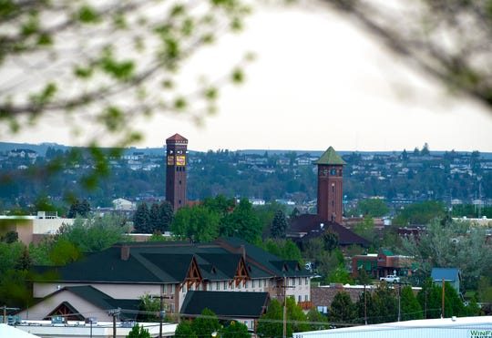 Milwuakee Station and Energy West buildings seen from Broadwater Overlook Park.