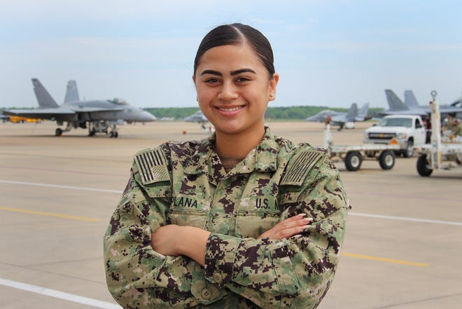 Seaman Aubriaunnesherrell Esplana, of  Yona, is currently serving with a U.S. Navy strike fighter squadron which flies one of the world's most advanced advanced warplanes. Esplana is a logistics specialist with the Gladiators of VFA 106, which operates out of Naval Air Station Oceana. She is  a 2017 Academy of Our Lady of Guam graduate. She credits success in the Navy to many of the lessons learned growing up in Yona.