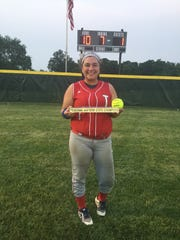 Leah Beach has played the state softball tournament for Tecumseh while battling vertigo.