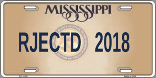 The Mississippi Department of Motor Vehicles rejected 26 personalized license plates in 2018.