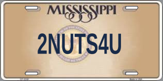 One of 26 personalized plates the state Department of Motor Vehicles rejected in 2018.