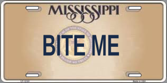 One of the personalized plates the state Department of Motor Vehicles rejected in 2018.