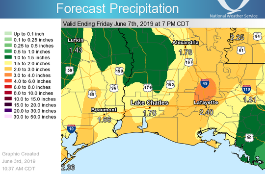 A tropical disturbance threatens to bring more water to the already saturated parts of southern Louisiana as the Army Corps of Engineers plans to open the Morganza Spillway on Sunday, June 9.