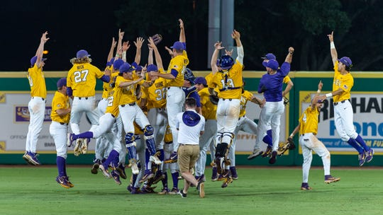 The LSU Tigers take down  Southern Miss to win the 2019 NCAA Regional Tournament in Baton Rouge, LA. Sunday, June 2, 2019.