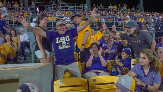 The LSU Tigers take on Southern Miss in the 2019 NCAA Regional Tournament in Baton Rouge, LA. Sunday, June 2, 2019.