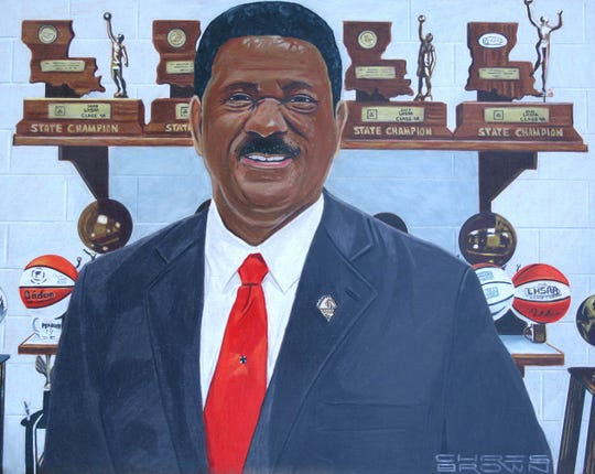 Official Louisiana Sports Hall of Fame portrait for Charles Smith.