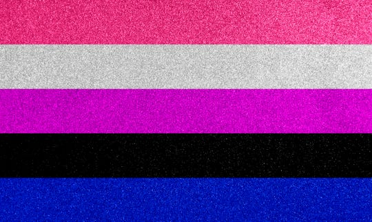 All gender identities are represented in the genderfluid flag.