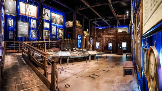"One room in ""Hamilton"" The Exhibition"" is a re-creation of New York as Alexander Hamilton saw it in the musical."