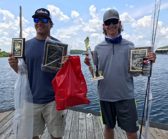 Valley Springs' Braydon Carnahan and Brock Knapp won the Twin Lakes High School Bass Tournament on Bull Shoals Lake.