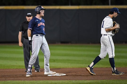 Auburn's Steven Williams (4) was named the Most Outstanding Player of the Regional on Sunday, June 2, 2019, in Atlanta, Ga.