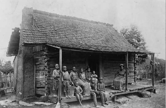 A former slave cabin near Eufala, Ala., photographed in 1936.