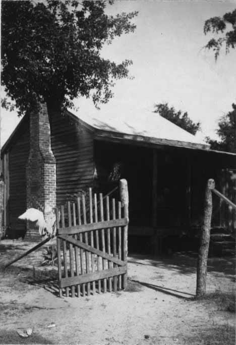 Laura Clark's cabin, photographed by the Works Progress Administration in 1937.
