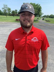 FILE -- Caleb Wright finished his senior year with Wapahani golf with a sectional title. The Raiders finished second as a team that day.