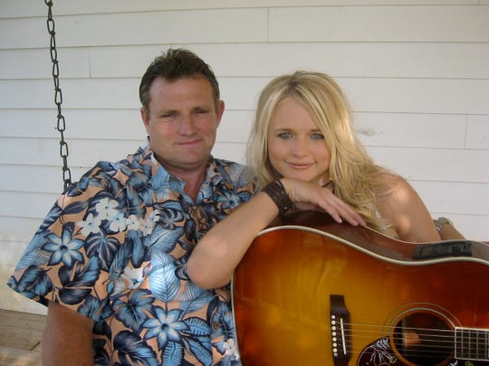 "Miranda Lambert with her father, Richard Lee ""Rick"" Lambert, a former private detective and a co-writer on Lambert's debut single, ""Me and Charlie Talking,"" released in 2004."