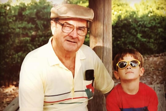 Mockingbird Nashville executive chef/partner Brian Riggenbach as a child with his grandpa Ken.