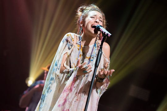 Lauren Daigle takes the stage for a passionate performance during the 2019 K-Love Fan Awards at the Grand Ole Opry House in Nashville, Tenn., Sunday, June 2, 2019.