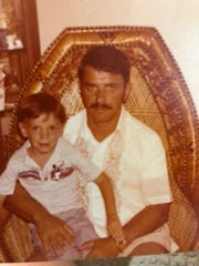 Bobby Hotel executive chef Jeff Axline at 4 years old in 1981 with his father, Harry Axline.