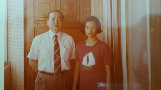 Nashville Chinese Arts Alliance Director Jen-Jen Lin as a teenager with her father, Qing Yao Lin.