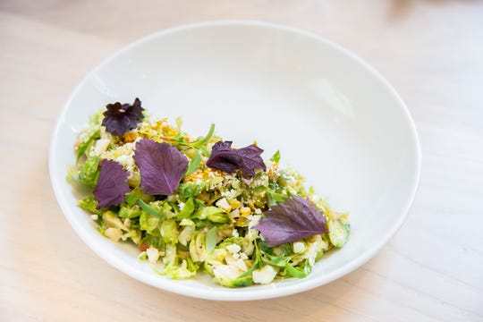 Shaved Brussels sprouts at Hathorne.