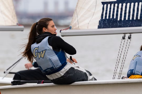 Riley Legault, a 2015 graduate of Estero, recently completed her four-year career with George Washington University sailing team.