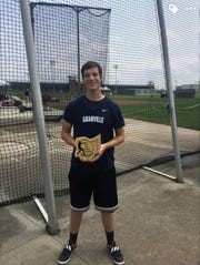 Granville senior Parker Hilaman placed fourth in the Ohio State Hammer Championships on Sunday at Ohio State's Jesse Owens Memorial Stadium.