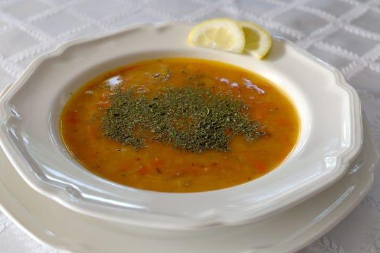 Lentil soup prepared by Nuran Sahin Fidan.