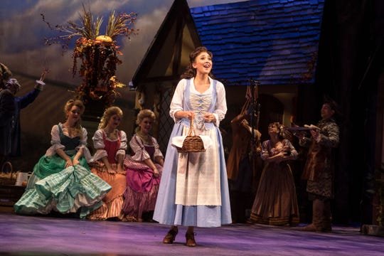 """Disney's Beauty and the Beast"": Belinda Allyn (Belle) and the cast at Paper Mill Playhouse"