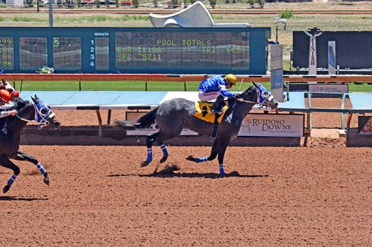 Silk for My Hero V at Ruidoso Downs Race Track.