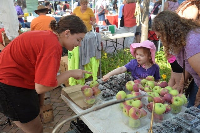 """The """"Power of Produce"""" headlines National Children's Day at the Market this week."""