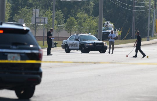 Pensacola Police Department investigate a shooting that occurred around 3:30 p.m. Monday, June 3, 2019, on Navy Boulevard.