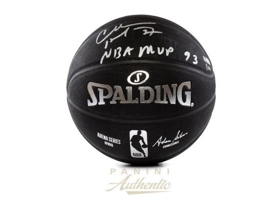 Charles Barkley limited edition autographed basketball is selling for $1,099.99 on Panini America.