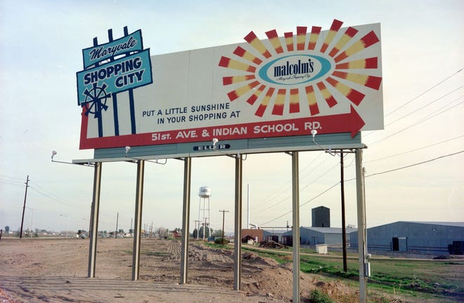 Billboard for Maryvale Shopping City, 1960s.