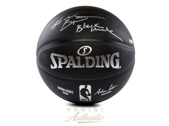 Kobe Bryant autographed basketball is selling for $999.99 on Panini America.