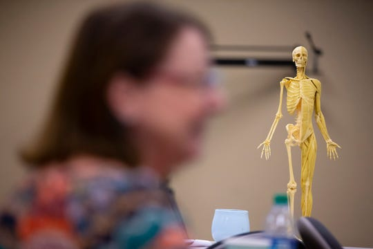 Joanne Frank of Peoria takes a tour of Research for Life in Phoenix. Frank was seeking more information on body donation.