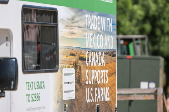 New Mexico farmers gather at an event held by Farmers for Free Trade on Dixie Ranch in Las Cruces on June 3, 2019.