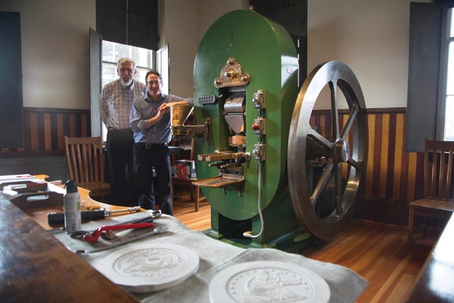 Coin Press No. 1 was the original machine charged with minting silver and gold coins when the Carson City Mint opened in 1870.